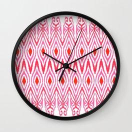 Ikat Watermelon Wall Clock
