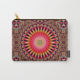 Colorful Kaleidoscope Pattern Carry-All Pouch
