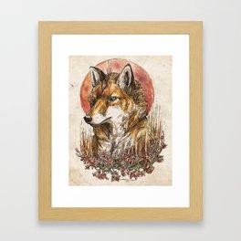 Fire Fox Spirit  Framed Art Print
