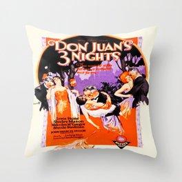 Vintage Twenties Film Advert Throw Pillow