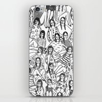 gilmore girls iPhone & iPod Skins featuring Girls by leah reena goren