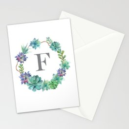 """F"" Monogram Stationery Cards"