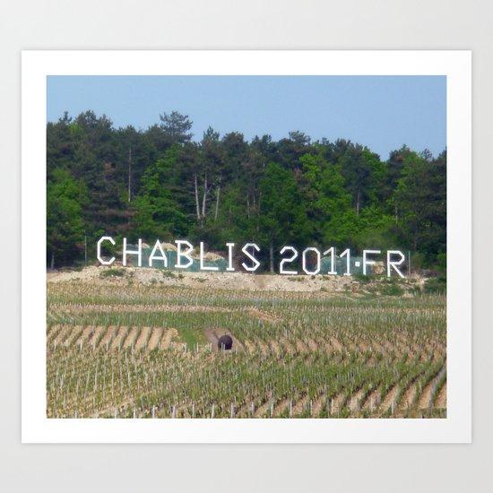 Chablis 2011 Art Print