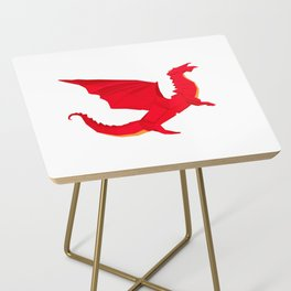 Origami Red Dragon Side Table