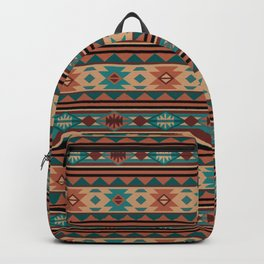 Southwest Design Turquoise Terracotta Backpack