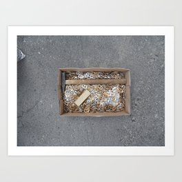 can tips in a cardstock box and tools, warsaw Art Print
