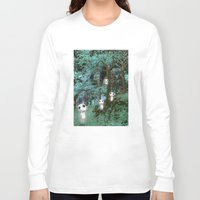 kodama Long Sleeve T-shirts featuring Kodama in the woods by pkarnold + The Cult Print Shop