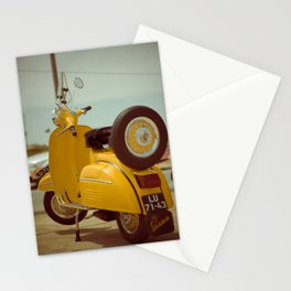 Yellow Vespa Stationery Cards
