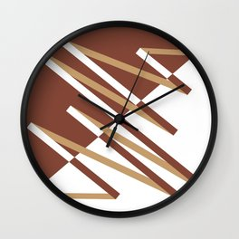 Fracture (Coffee) Wall Clock