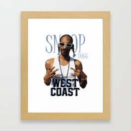 Snoop Dogg // West Coast Framed Art Print