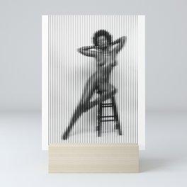 Shasta sitting nude figure vertical linear mosaic Mini Art Print