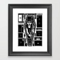 The dead rockstar Framed Art Print