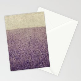 Purple field Stationery Cards