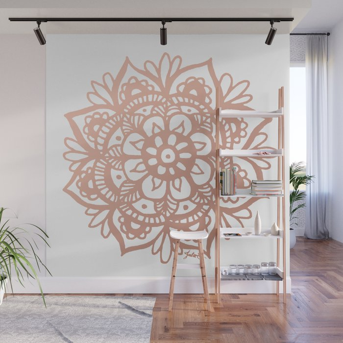Rose Gold Mandala Wall Mural