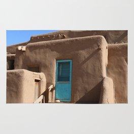 Taos Pueblo  Blue Door Rug