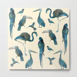 Tropical Birds Metal Print