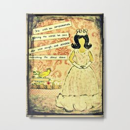 She will be compassionate Metal Print