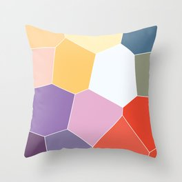 Colored Tiles Blocks Pattern Throw Pillow