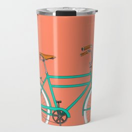 Brooklyn Cruiser - Bike print illustration Travel Mug