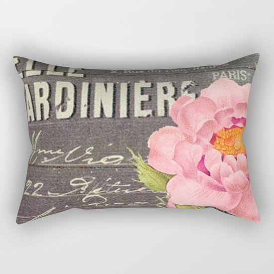 Vintage Flowers #5 Rectangular Pillow