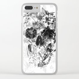 New Skull Light B&W Clear iPhone Case