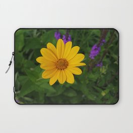 Prairie gold with lavender-violet companions 7489 Laptop Sleeve