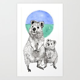 The Reign of the Quokka! Art Print