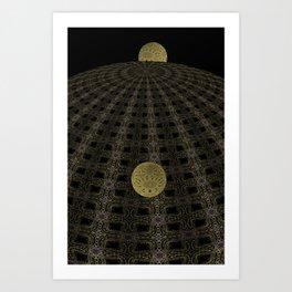 Unfitting Frame Orbitals 1 Art Print