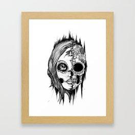 Lady Sugar Skull  Framed Art Print