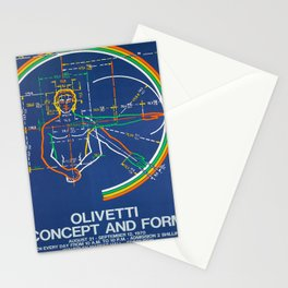 plakat olivetti concept and form Stationery Cards