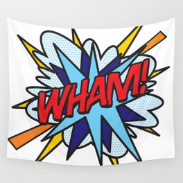 Comic Book Pop Art WHAM Wall Tapestry