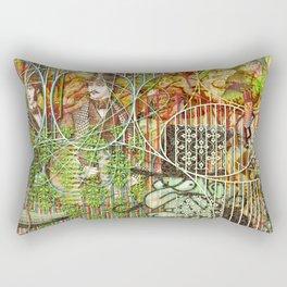 Crimson Petal's Lying Decay Rectangular Pillow
