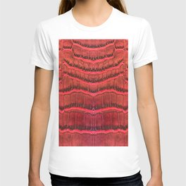 Pattern on the red leather tote purse  T-shirt