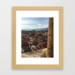 View From The Cathedral of Saint Domnius Framed Art Print