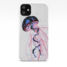 the dance - jellyfish and bubble (pink / purple) iPhone Case