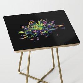 Rainbow Floral Side Table