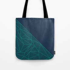 B Rays Geo Pine Blue Tote Bag