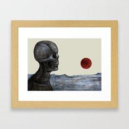 Doom Satellite Framed Art Print