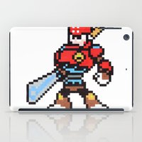 sword iPad Cases featuring sword man by Walter Melon