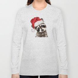 Christmas Baby Raccoon Long Sleeve T-shirt