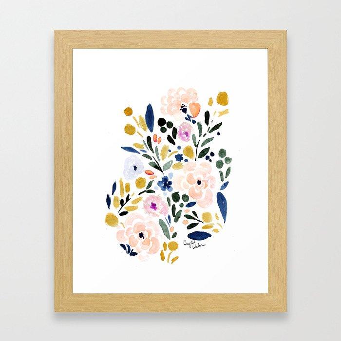 Sierra Floral Framed Art Print