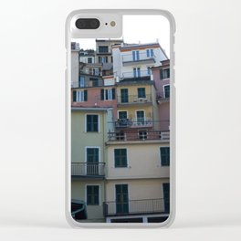 Italian Colorful Houses Clear iPhone Case