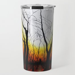 Sunset in the forest Travel Mug