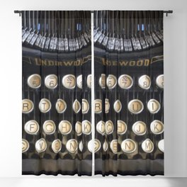 Vintage Typewriter Blackout Curtain