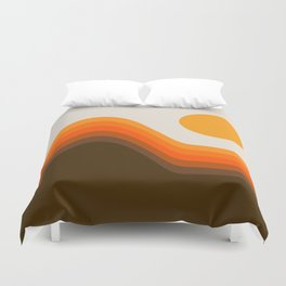 Golden Horizon Diptych - Left Side Duvet Cover
