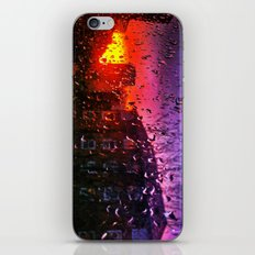 Sunset through water droplets iPhone & iPod Skin