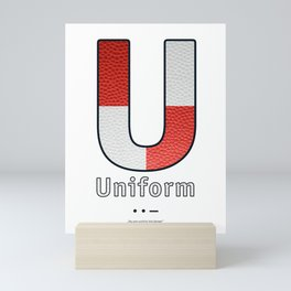 Uniform - Navy Code Mini Art Print
