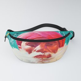 India and Pakistan - Vintage Air Travel Poster Fanny Pack