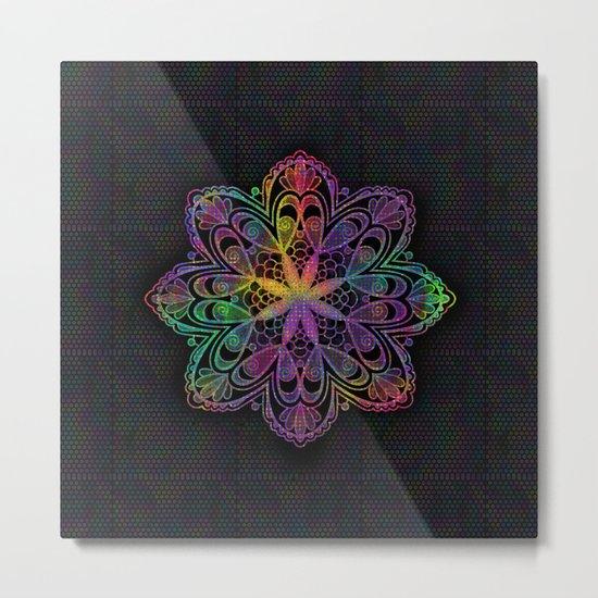 Kaleidoscope Mandala Metal Print