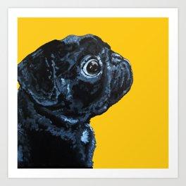 Popped Pug #2 Art Print
